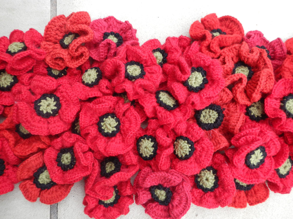 Knitting Pattern For Anzac Day Poppies : 5000 POPPIES 5000 POPPIES