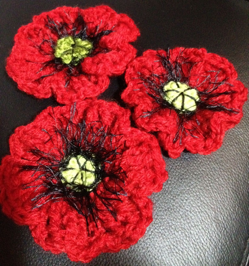 Knitting Pattern For Poppy Flowers : Lorraine s Poppy Pattern 5000 POPPIES