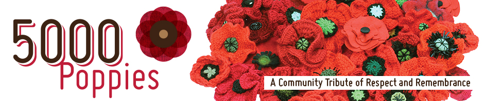 Knitting Pattern For Anzac Poppies : 5000 POPPIES A Community Tribute of Respect and Remembrance