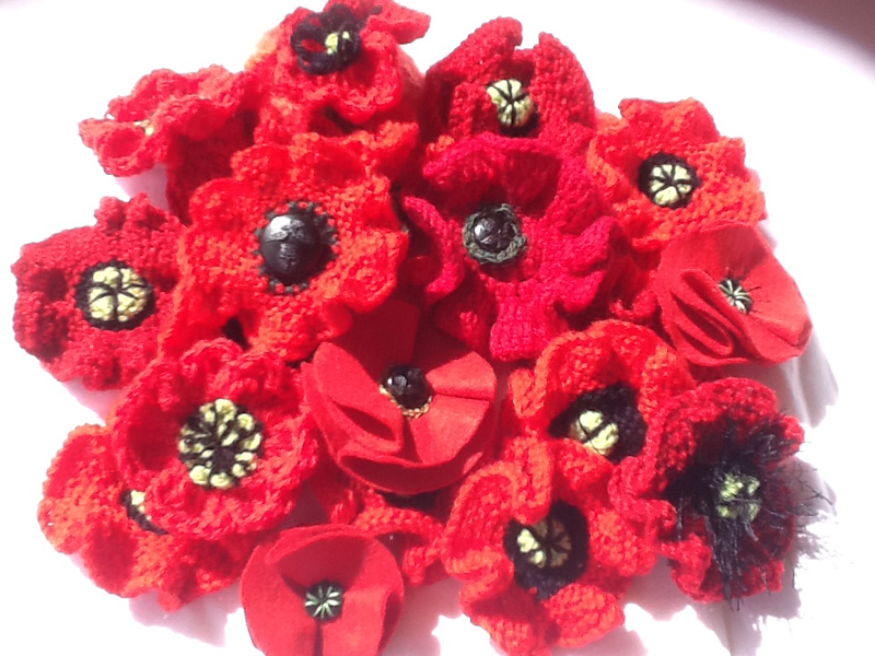 Knitting Pattern For Anzac Day Poppies : The Origins of the Anzac Day Rituals ? 5000 POPPIES