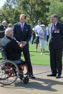 Prince Edward gifted a poppy by our very own Judy Carroll