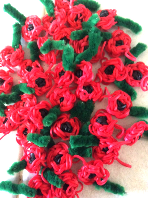 Loomband Poppies by Zoe Greenhill Aged 10