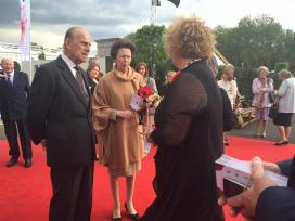 Lynn has a chat to Prince Phillip and Princess Anne