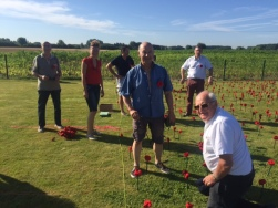 Planting Poppies with French Rotarians July 2016 at Cobbers Day 2